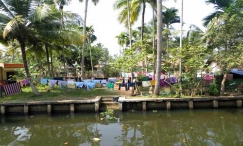 Zdjęcie INDIE / Kerala / rozlewiska  / pranie
