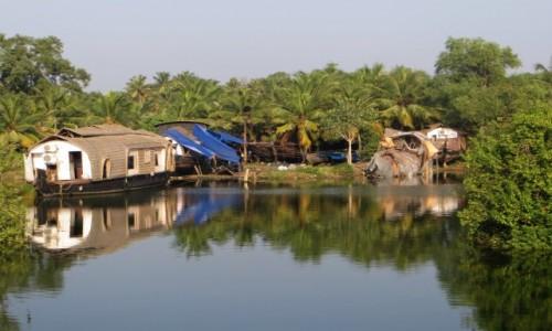Zdjęcie INDIE / Kerala / Keralskie rozlewiska / Mijamy porzucone łodzie