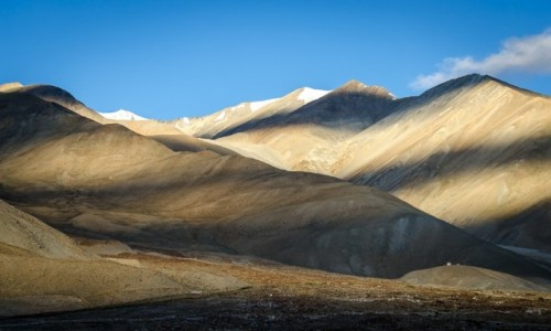 Zdjecie INDIE / Ladakh / Pangong Lake / pustka gór...