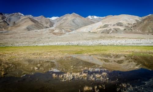 Zdjecie INDIE / Ladakh / Pangong Lake / odbicie...
