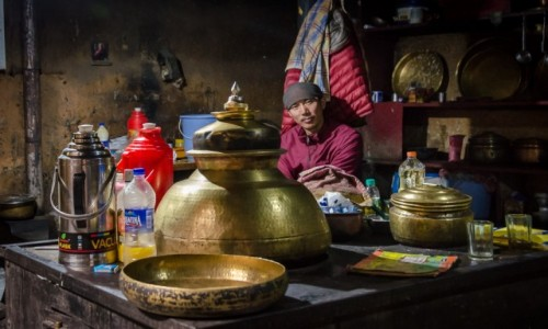 Zdjecie INDIE / Himachal Pradesh / Key Monastery / herbatka z mnichem - jakkolwiek to brzmi :)