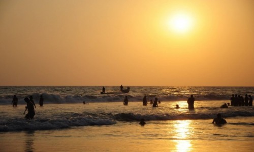 Zdjecie INDIE / Kerala / Varkala / Plaża w Varkali
