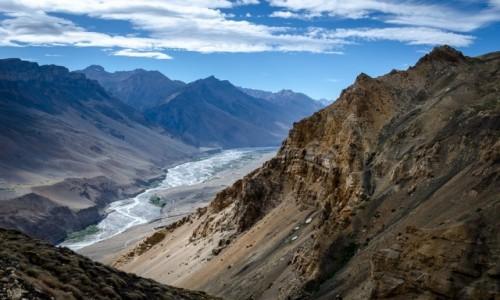 Zdjęcie INDIE / Himachal Pradesh / dolina rzeki Spiti / z wysokości...