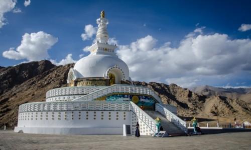 Zdjęcie INDIE / Ladakh / Leh / Shanti stupa...