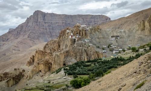 INDIE / Himachal Pradesh / Dhankar Monastery / orle gniazdo...