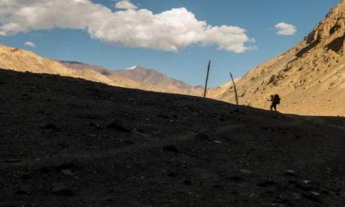 Zdjecie INDIE / Ladakh / dolina Markha / himalajski zmierzch