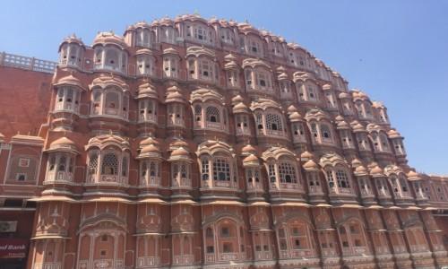 Zdjecie INDIE / Jaipur  / Hawa Mahal / Miodowa świątynia