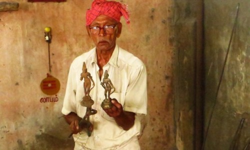 Zdjęcie INDIE / Tamilnadu / Tiruvannamalaj / wytwórca pamiątek