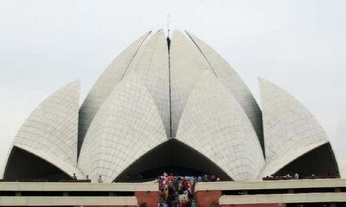 Zdjecie INDIE / Delhi / południowe Delhi / świątynia bahaistyczna