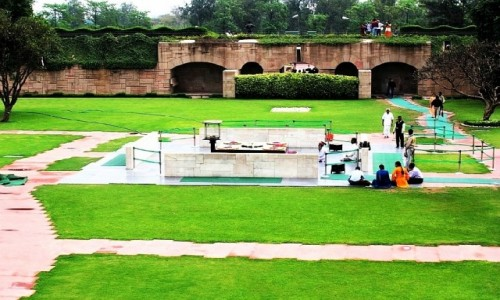 Zdjecie INDIE / Delhi / Delhi / miejsce kremacji Gandhiego