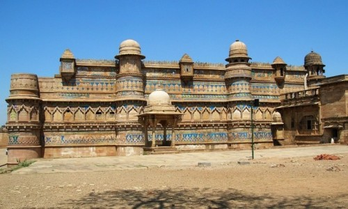 Zdjęcie INDIE / Madhja Pradesh / Gwalior / twierdza Man Mandir