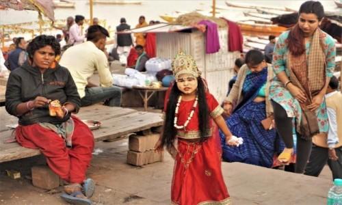Zdjecie INDIE / Uttar Pradesh / Waranasi / Żona Śiwy