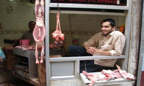 Zdjęcie INDIE / brak / Dehli / Sklep mięsny