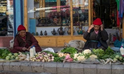 Zdjecie INDIE / Ladakh / Leh / świeże warzywka