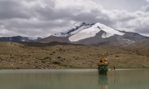 Zdjecie INDIE / Ladakh / Markha Valley / jeziorko z buddą