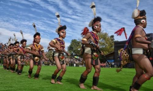 Zdjecie INDIE / Nagaland / Kohima, Kisama / Festiwal HORNBILL, występy
