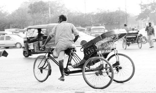 Zdjecie INDIE / Delhi / Delhi / rikschaman 2