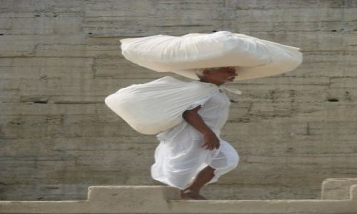 Zdjecie INDIE / uttar pradesh / varanasi / pure white