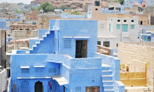 Zdjecie INDIE / rajastan / jodhpur / blue is my color