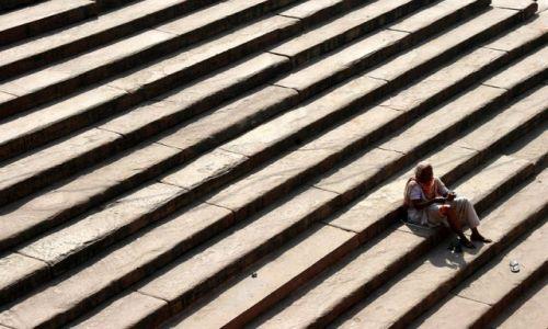 Zdjecie INDIE / brak / OLD DELHI Meczet Masjid / W samo południe