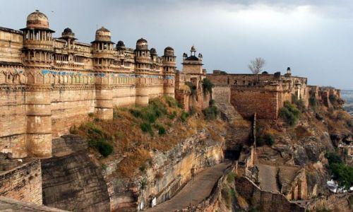 Zdjecie INDIE / brak / Pałac Jahangiri   Miasteczko Orchha / Fort JAI