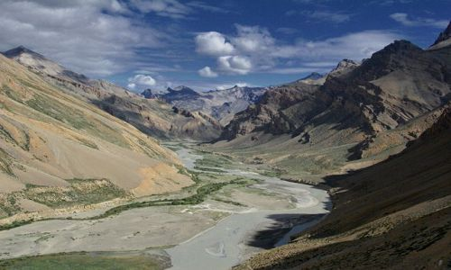 Zdjecie INDIE / Ladakh / droga Leh-Nubra / Widoczek