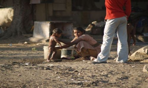 Zdjecie INDIE / okolice Dehli / Delhi / Kąpiel poranna