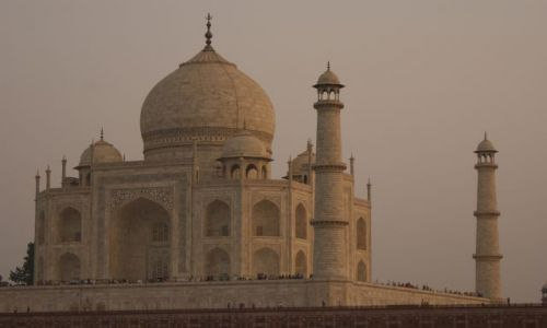 Zdjecie INDIE / brak / Agra / Tadż Mahal o zachodzie słońca