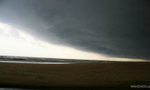 Zdjęcie INDIE / Orissa / Plaża / Monsun