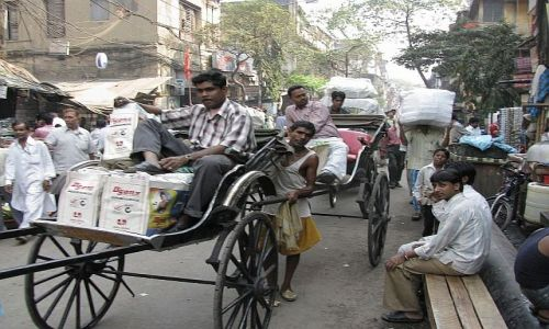 INDIE / bengal Zachodni / Kalkuta / ulice Kalkuty