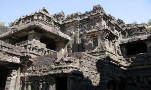 INDIE / Maharastra / Ellora / świątynia Kailasa