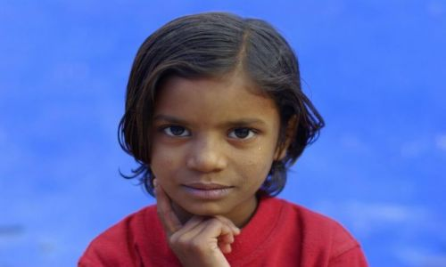 Zdjecie INDIE / Jodhpur - błękitne miasto / Jodhpur - błękitne miasto / portret w blekitnym miescie