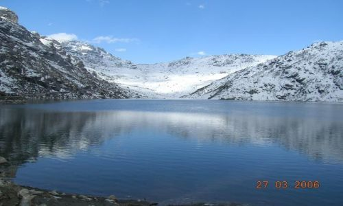 INDIE / Sikkim / Tybet / jezioro Tsomgo