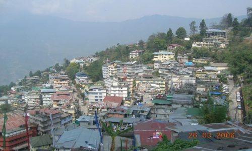 Zdjecie INDIE / Sikkim / Gangtok / panorama