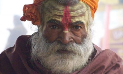 Zdjecie INDIE / Bihar / Kolo Nalandy-Bihar / Sadhu