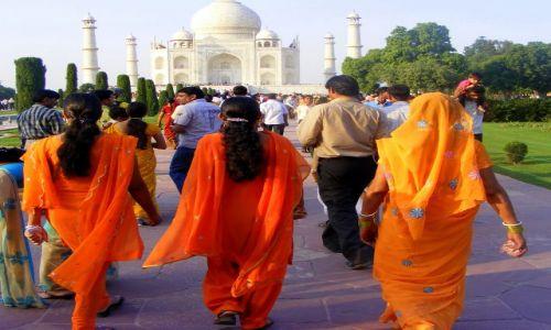 Zdjęcie INDIE / brak / Agra / 3 kolory pomarnczowy