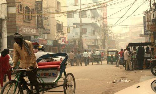 Zdjecie INDIE / brak / NEW DELHI / NEW DELHI STREET ( w smogu )