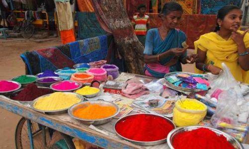 INDIE / Karnataka / Hampi / Kolorowy folklor