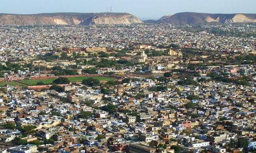 Zdjecie INDIE / Radżastan / fort Nahargarh / panorama Jaipuru 2