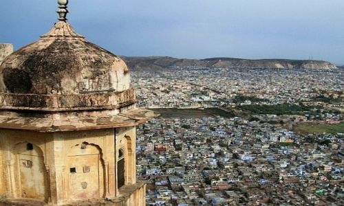 Zdjecie INDIE / Radżastan / fort Nahargarh / panorama Jaipuru 1