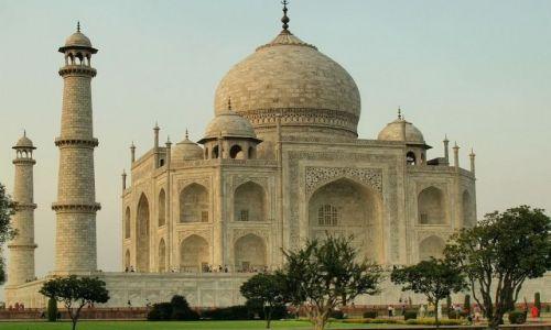 Zdjęcie INDIE / Uttar Pradesh / Agra / Taj Mahal o zachodzie 2