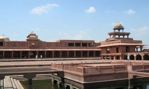 Zdjęcie INDIE / Uttar Pradesh / Fatehpur Sikri / kompleks pałacowy Agbara 5