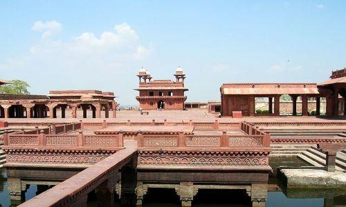 Zdjęcie INDIE / Uttar Pradesh / Fatehpur Sikri / kompleks pałacowy Agbara 4