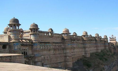 INDIE / Madhja Pradesh / Gwalior / Twierdza Man Mandir