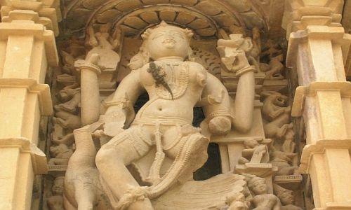 INDIE / Madhja Pradesh / Khajuraho / Świątynia - detal 3