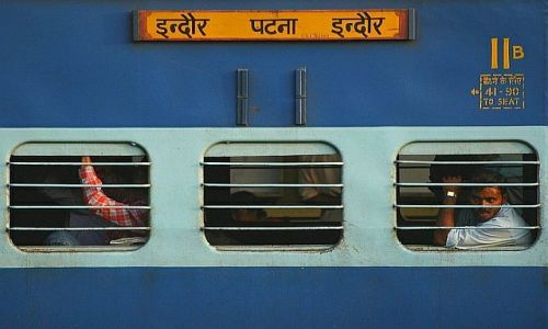 Zdjecie INDIE / Varanasi / Varanasi / pociag w Indiach