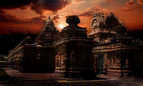 Zdjecie INDIE / Indie Płd / Kanchipuram / Świątynia Kailasanatha