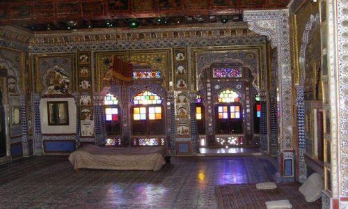 INDIE / Rajasthan / Jodhpur / fort Meherangarh - wystrój wnętrz