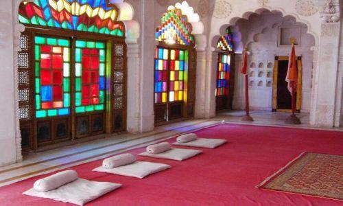INDIE / Rajasthan / Jodhpur / fort Meherangarh wystrój wnętrz