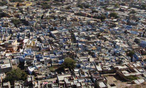 INDIE / Rajasthan / Jodhpur / błękit Jodhpuru